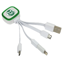 Tri-Charge USB w/ Lightning Adapter